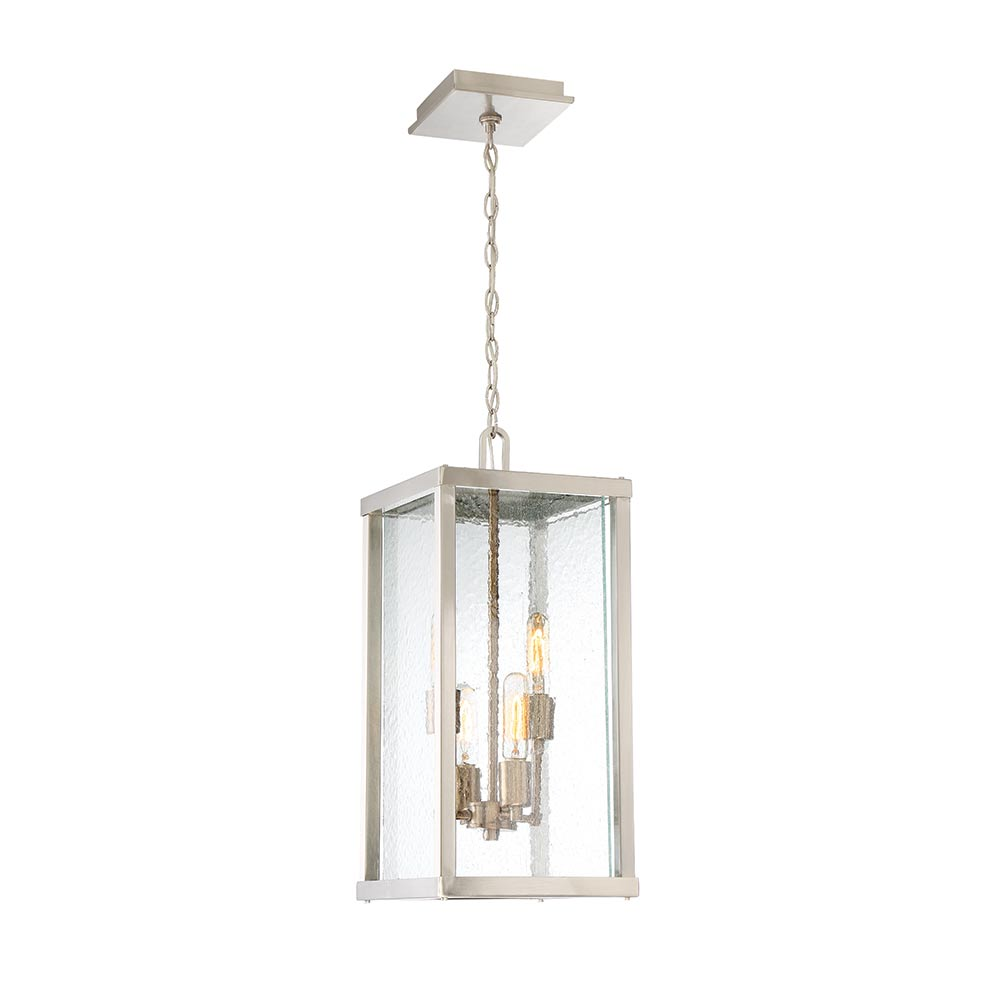 Craftmade Farnsworth 4 Light Large Pendant In Brushed Nickel Patina Aged Br With