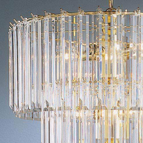 trans globe lighting tiered 9 light acrylic chandelier in polished brass