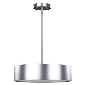 "Canarm - Dexter - 15 3/4"" Pendant in Aluminum with Frosted Glass"