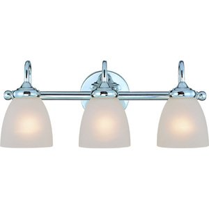 Craftmade - Spencer - Triple Bath Light in Chrome with Painted Etched Glass