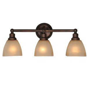 Craftmade - Bradley - Triple Bath Light in Bronze with Square Glass