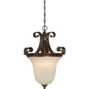 Craftmade Jeremiah Seville Lighting 16 Pendant Light In Spanish Bronze With Opal Gl