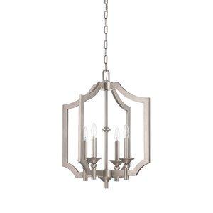 Nowlighting offers craftmade cra 211464 lighting antique nickel craftmade lisbon 4 light foyer chandelier in antique nickel aloadofball Gallery