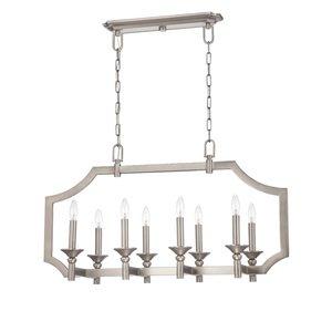 Nowlighting offers craftmade cra 211533 lighting antique nickel craftmade lisbon 8 light linear chandelier in antique nickel aloadofball Gallery