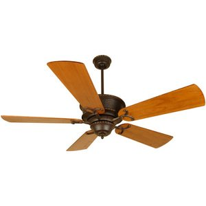 "Craftmade - 54"" Riata Ceiling Fan in Aged Bronze with Premier Blades in Distressed Teak"