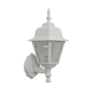 Craftmade - Coach Lights - 1 Light Small Wall Mount in Matte White with Clear Beveled Glass