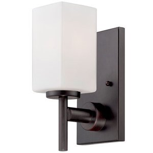 Designers Fountain Lighting - Dakota - Wall Sconce in Biscayne Bronze with Frosted White Inside