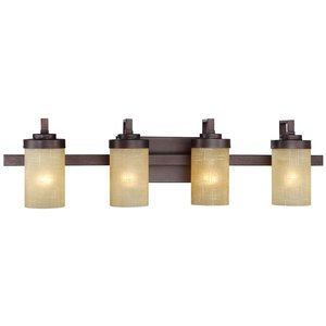 Designers Fountain Lighting - Castello - 4 Light Bath Bar in Tuscana with Antique Linen