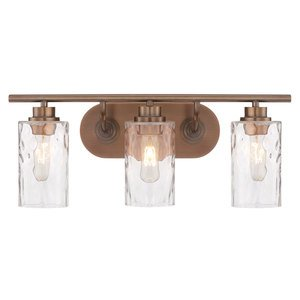 Designers Fountain Lighting Gramercy Park 3 Light Bath Bar In Old Satin Br With