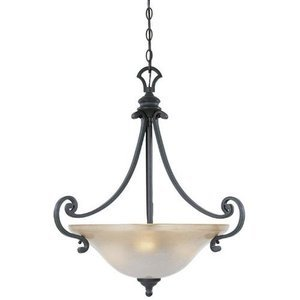 Designers Fountain Lighting - Barcelona - Interior Pendant in Natural Iron with Ochere