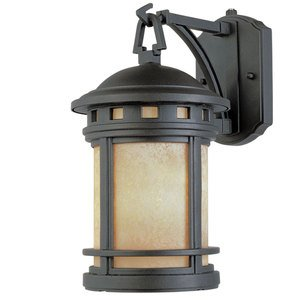 "Designers Fountain Lighting - Sedona - 11"" Wall Lantern - Energy Star in Oil Rubbed Bronze with Amber"