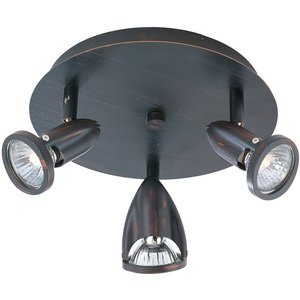 ET2 Lighting - Agron 3-Light Flush Mount in Bronze