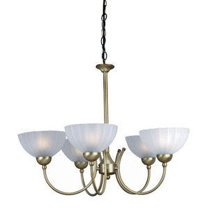 "Lite Source - Alani 21"" Tall Chandelier in Bronze"