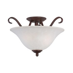 Maxim Lighting - Basix Semi Flush Mount in Oil Rubbed Bronze with Ice Glass