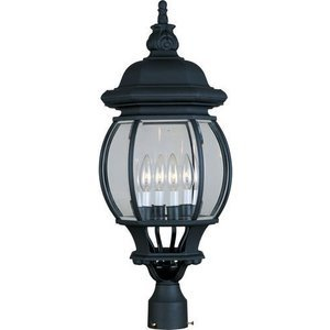 "Maxim Lighting -  11"" Crown Hill 4-Light Outdoor Pole/Post Lantern in Black"