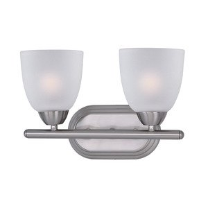 Maxim Lighting - Axis Double Bath Vanity in Satin Nickel with Frosted Glass