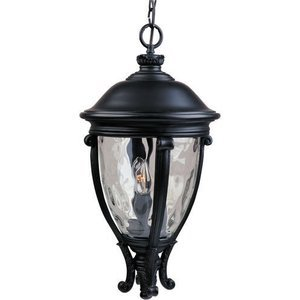 "Maxim Lighting -  13"" Camden VX 3-Light Outdoor Hanging Lantern in Black with Water Glass"