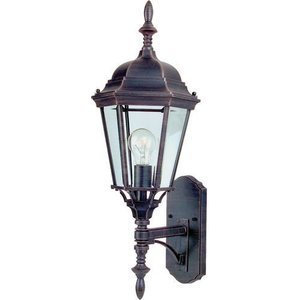 "Maxim Lighting -  9 1/2"" Westlake Energy Star 1-Light Outdoor Wall Lantern in Rust Patina"