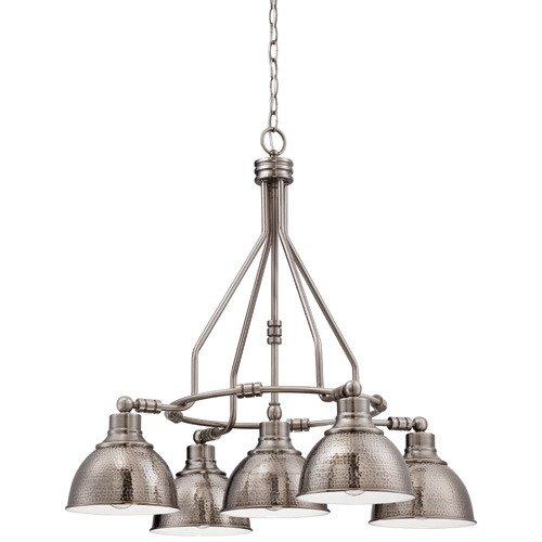 Nowlighting offers craftmade cra 123925 lighting antique nickel craftmade timarron 5 downlight chandelier in antique nickel and hammered metal shade mozeypictures Gallery