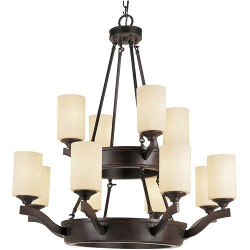 trans globe lighting wheel 2 tier chandelier in rubbed oil bronze - Trans Globe Lighting