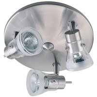 "Canarm - Orion - 8 1/2"" Flush Mount Light / Wall Light in Brushed Pewter with Clear/Frosted Glass"