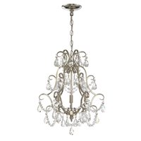 Craftmade - Mini Chandelier - 3 Light Mini Chandelier in Polished Nickel with Clear Crystals