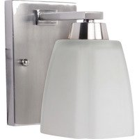 Craftmade - Jeremiah Sumner Bath Lighting - Single Light Wall Sconce in Brushed Nickel and Frosted White Glass
