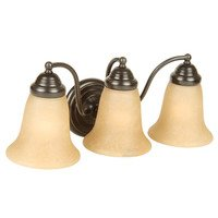 Craftmade - Jeremiah Cathryn Lighting - 3 Light Vanity in Oiled Bronze with White Frosted Glass