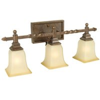 Craftmade - Jeremiah Ryan Lighting - Triple Bath Light in Peruvian with Antique Scavo Glass