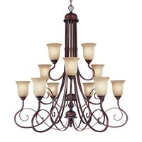"Craftmade - Jeremiah Preston Place Lighting - 42"" Chandelier in Augustine"