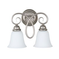 Craftmade - Jeremiah Cordova Lighting - 2 Light Wall Sconce in Satin Nickel with White Frosted Glass