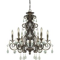 "Craftmade - Jeremiah Englewood Lighting - 29"" Chandelier in French Roast"