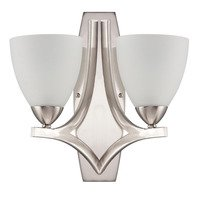Craftmade - Jeremiah Hartford Lighting Collection - Double Wall Sconce in Satin Nickel