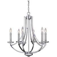 Craftmade - Hayden - 6 Light Chandelier in Chrome