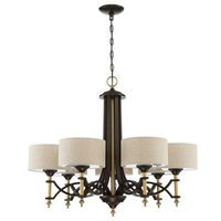 Craftmade - Colonial - 7 Light Chandelier in Antique Gold and Bronze
