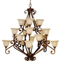 "Craftmade - Jeremiah Toscana Lighting - 52"" Chandelier in Peruvian with Antique Scavo Glass"