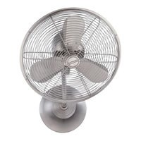 "Craftmade - Bellows I Fan - 14"" I Hard-wired Wall Fan in Brushed Polished Nickel"