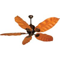 "Craftmade - Kona Bay Ceiling Fan - 58"" Ceiling Fan in Oiled Bronze with Tropic Isle Blades in Honey Oak"