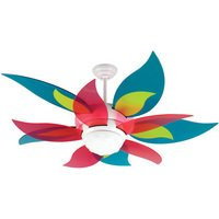 "Craftmade - Bloom Ceiling Fan - 52"" Ceiling Fan in White with Specialty Blades in Candy and Integrated Light Kit"