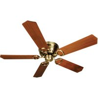 "Craftmade - Universal Hugger Ceiling Fan - 52"" Ceiling Fan in Antique Brass with Custom Wood Blades in Walnut"