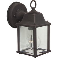 "Craftmade - Exterior Coach Light Lighting - 4 1/2"" Exterior Wall Light in Rust with Clear Glass"