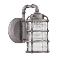 Craftmade - Exteriors Hadley Lighting - 1 Light Small Wall Mount in Aged Galvanized