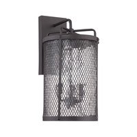 Craftmade - Jeremiah Blacksmith Lighting Collection - 3 Light Large Wall Mount in Matte Black Gilded