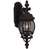 "Craftmade - Exterior French Style Lighting - 6 1/2"" Exterior Wall Light in Rust with Clear Beveled Glass"
