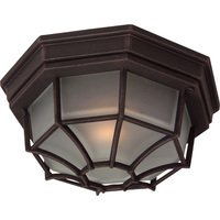 "Craftmade - Exterior Bulkhead Lighting - 10 5/8"" Flush Mount Exterior Light in Rust with Frosted Glass"