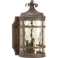 "Craftmade - Exterior Espana Lighting - 9 15/16"" Exterior Wall Light in Rustic Iron with Hammered Champagne Glass"