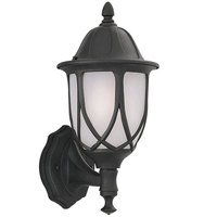 "Designers Fountain - Capella - 6"" Wall Lantern in Black with Satin Crackled"