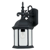 Designers Fountain - Devonshire - Exterior Wall Lantern in Black with Clear