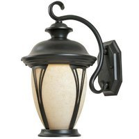 Designers Fountain - Westchester - Exterior Wall Lantern in Bronze with Amber