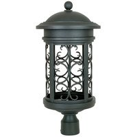 "Designers Fountain - Ellington - 11"" Post Lantern - Dark Sky in Oil Rubbed Bronze"